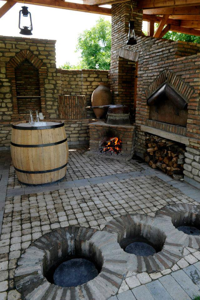 President Saakashvili's Marani - place for making and storing wine.