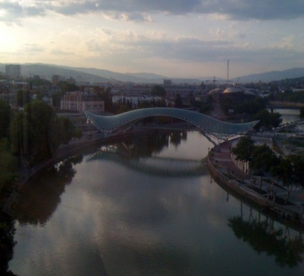 Tbilisi Bridge of Peace in Late Afternoon