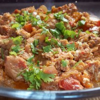 About Food - Chakhokhbili (Chicken with Herbs and Eggs)