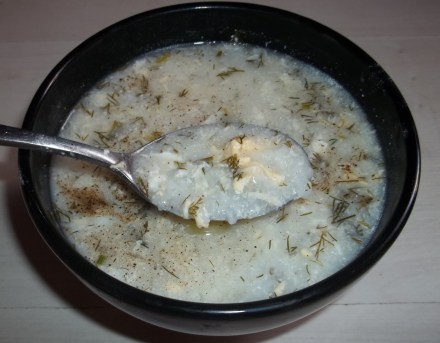 Potato, Rice and Herb Soup with Matsoni
