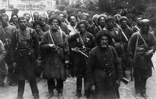 Khevsurs in Tbilisi in 1920