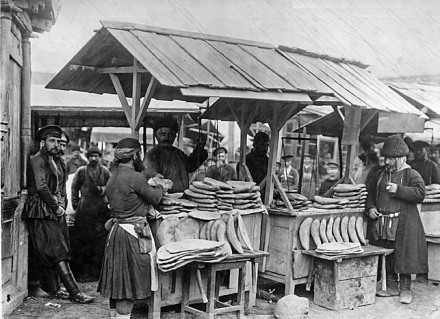Bread stall in Tiflis