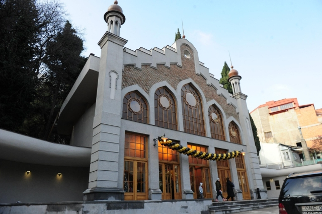 Tbilisi funicular station in Chonkadze Street