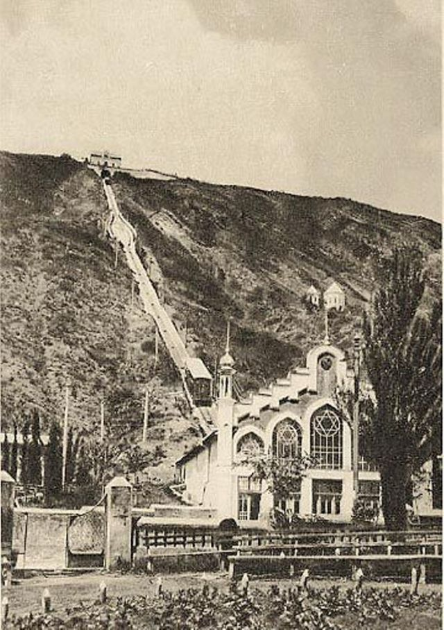 Early 20th century photograph of the Tiflis Funicular Railway