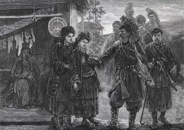 Page from the Illustrated London News dated 1873 – entitled 'Betrothal in Georgia'