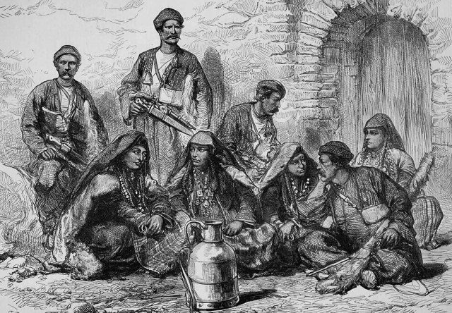 Page from the Illustrated London News dated 1873 – entitled 'Georgian Mountaineers'