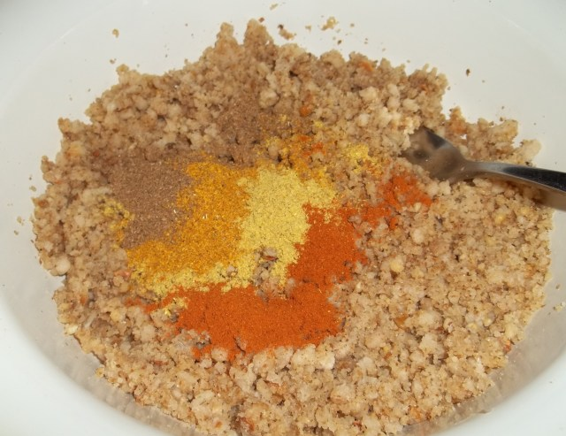 mixing-ingredients-for-sweet-peppers-with-walnuts-recipe