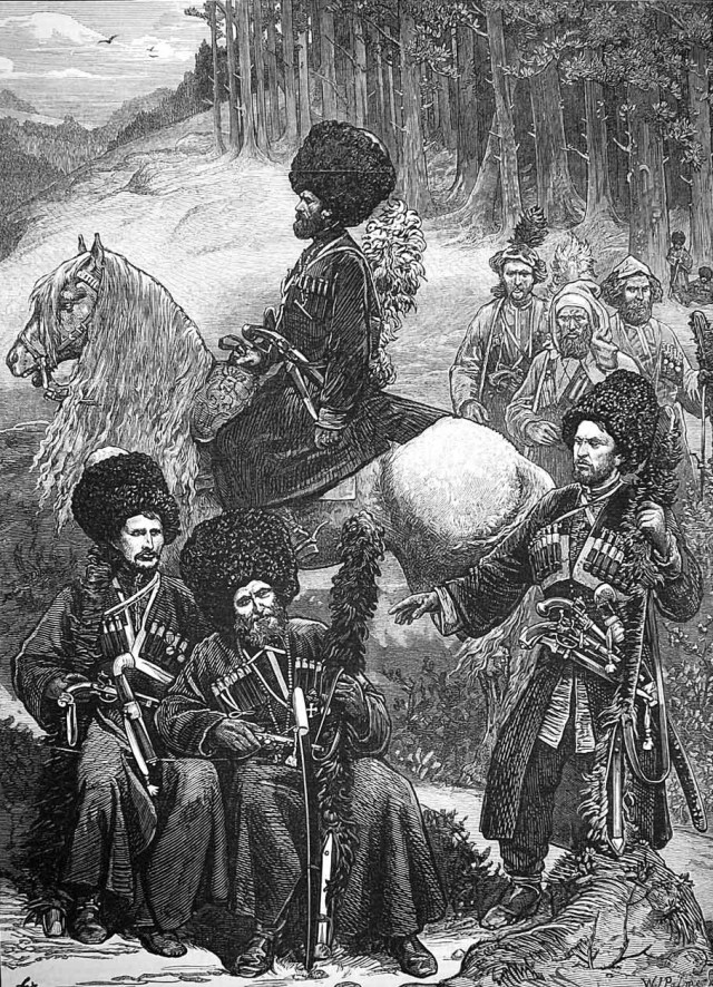 Page from the Illustrated London News dated 1873 - entitled 'Natives Caucasus North of Mingrelia'