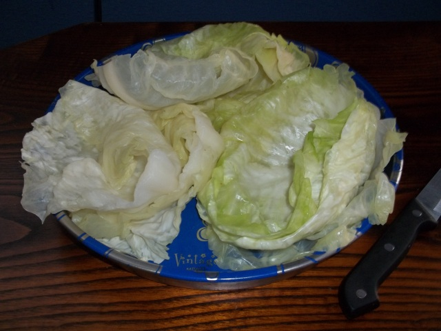 prepared-cabbage-leaves-for-nuts in cabbage leaves-recipe