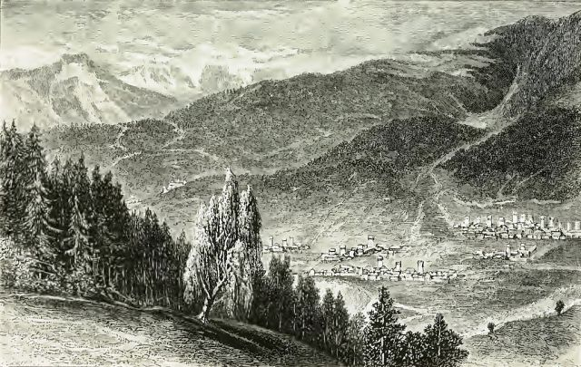 Village of Moulahi and Oujba Mountain (original caption)