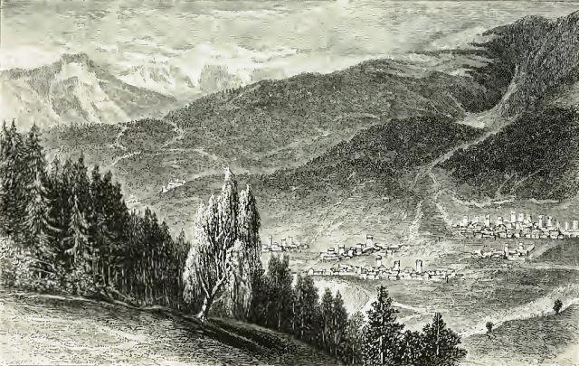Village of Moulahi and Oujba Mountain (original caption)