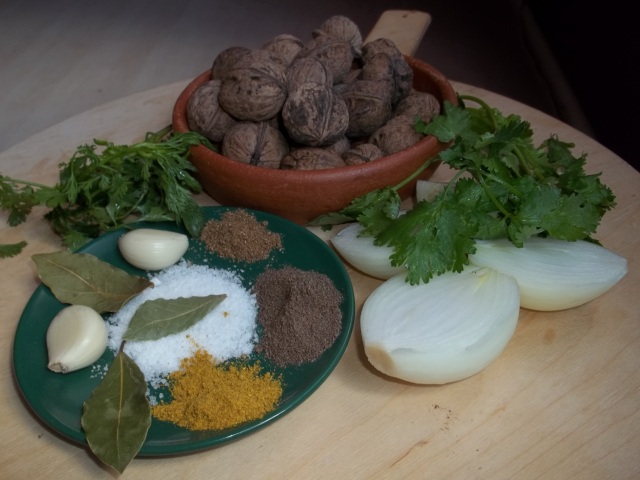 Ingredients for Lobio with Nuts Recipe
