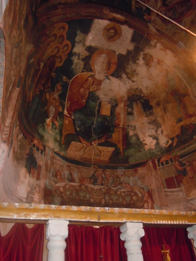 Mural in St. George's Church and Monastery complex in the village of Ubisa_1