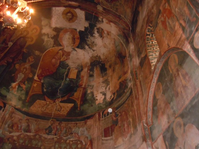 Mural in St. George's Church and Monastery complex in the village of Ubisa_4