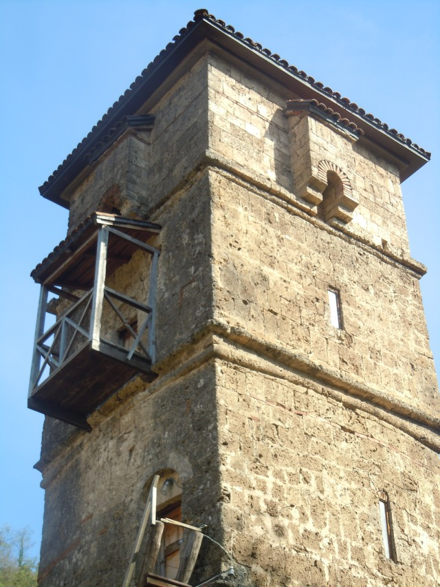 Tower at St. George's Church and Monastery complex in the village of Ubisa