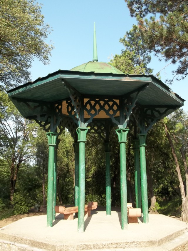 A Rest Area at the National Botanical Garden of Georgia in Tbilisi