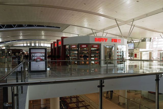 Duty Free Shop at Tbilisi International Airport. Photo by Gia Gvilava at the English language Wikipedia