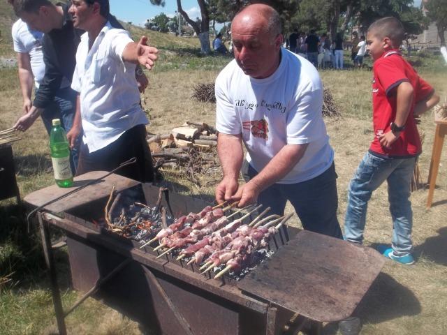 Barbecue Area at the Kartli Wine Festival