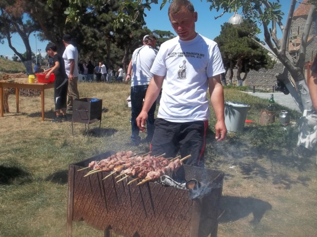 Barbecue at the Kartli Wine Festival in Gori