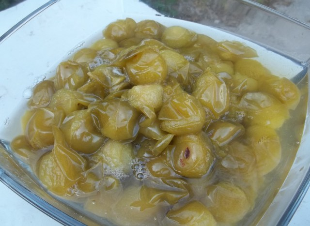 Boiled Tkemali Plums
