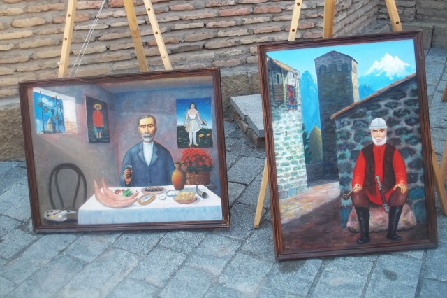 Paintings at the Kartli Wine Festival