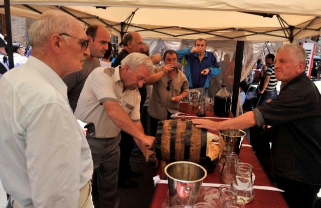 Tasting Wine at the Kartli Wine Festival in Gori