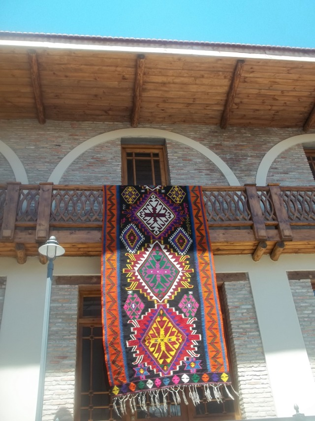 Traditional Carpet Displayed at the Kartli Wine Festival
