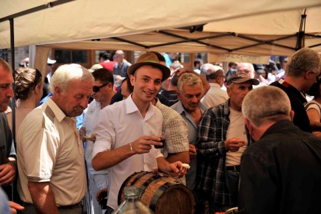 Visitors Sampling the Wines at the Kartli Wine Festival