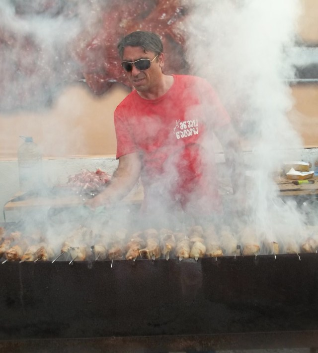 A Barbecue at the Tbilisi Beer Festival