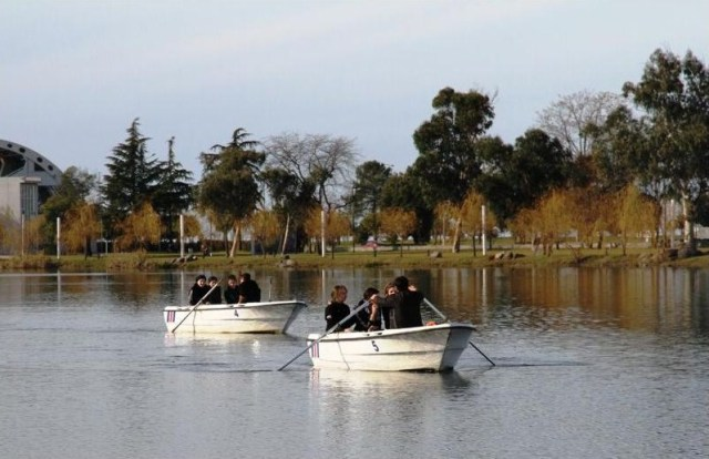 Boats on Nuri Geli Lake. Photo courtesy of 6 May Park