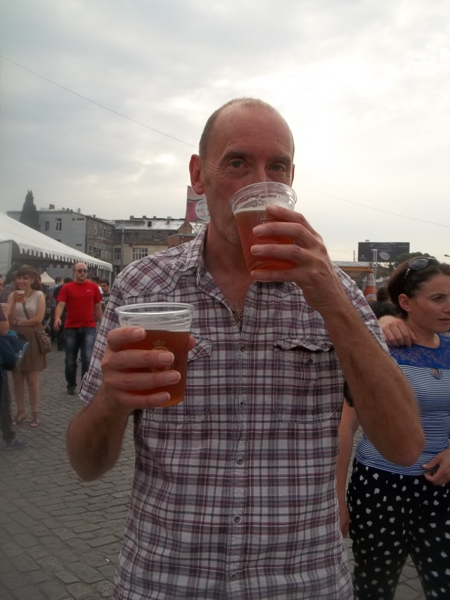 Gaumarjos Georgia About at the 2013 Tbilisi Beer Festival