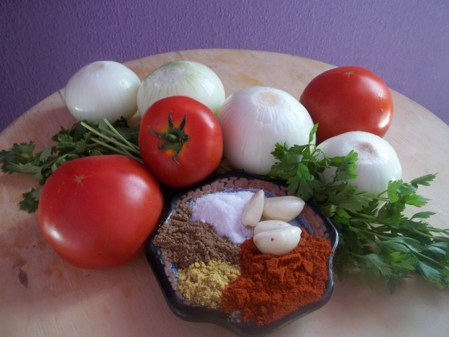 Ingredients for Lobio with Tomatoes