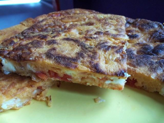 Mokhrakuli Khachapuri with Tomatoes and Sulguni Cheese