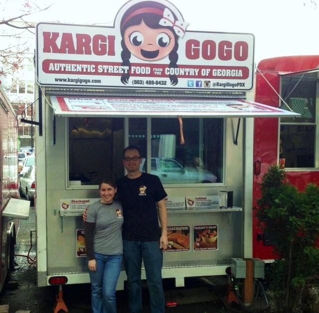 Sean and McKinze and their Kargi Gogo Food Cart Pod