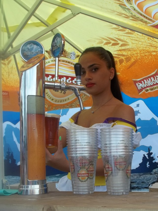 Serving Cold Beer at the Tbilisi Beer Festival 2013