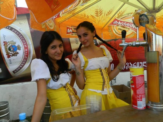 Serving Drinks with a Smile at the Tbilisi Beer Festival 2013
