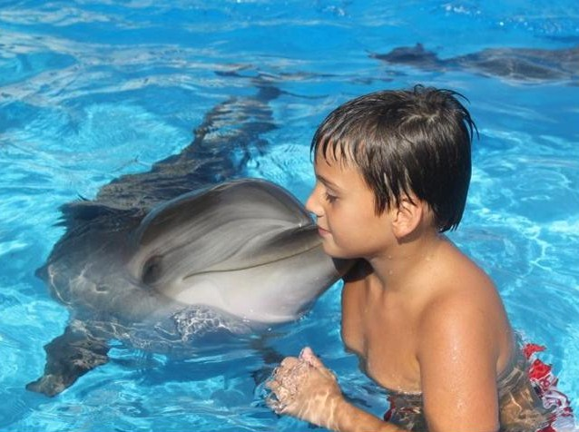 Swimming with Dolphins at Batumi Dolphinarium. Photo courtesy of 6 May Park