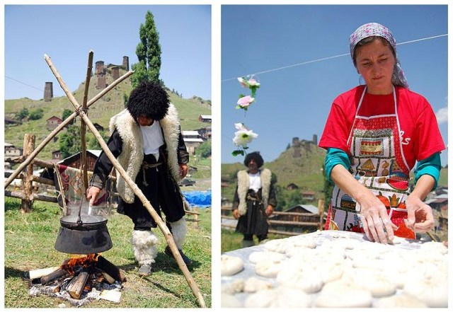 Traditional Cuisine at the Tushetoba Festival