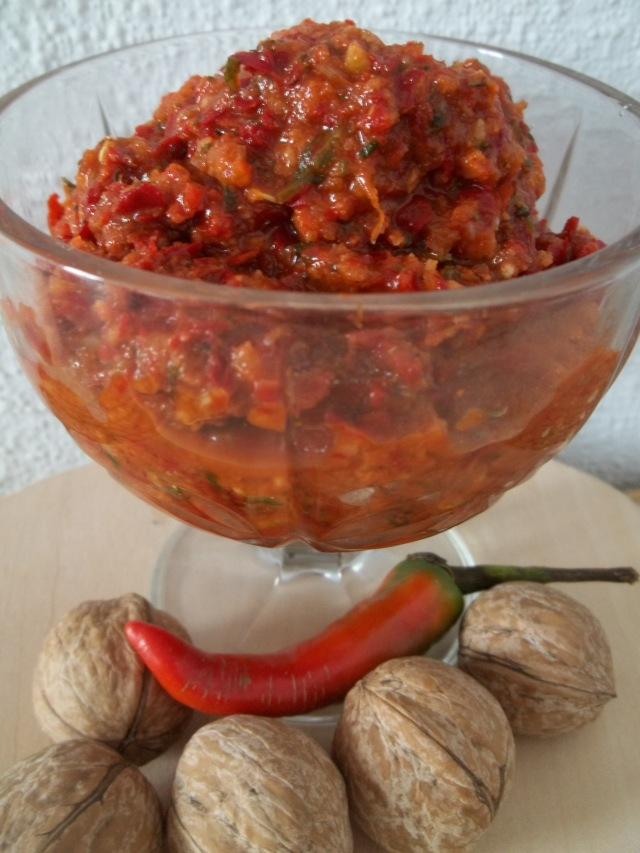 Ajika made with Walnuts and Red Peppers