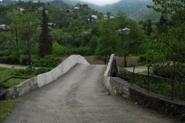 Arched Bridge of Kobuleti Village in Kobuleti District of Ajara
