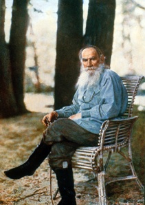 Color Photograph of Leo Tolstoy by Sergey Mikhaylovich Prokudin-Gorsky
