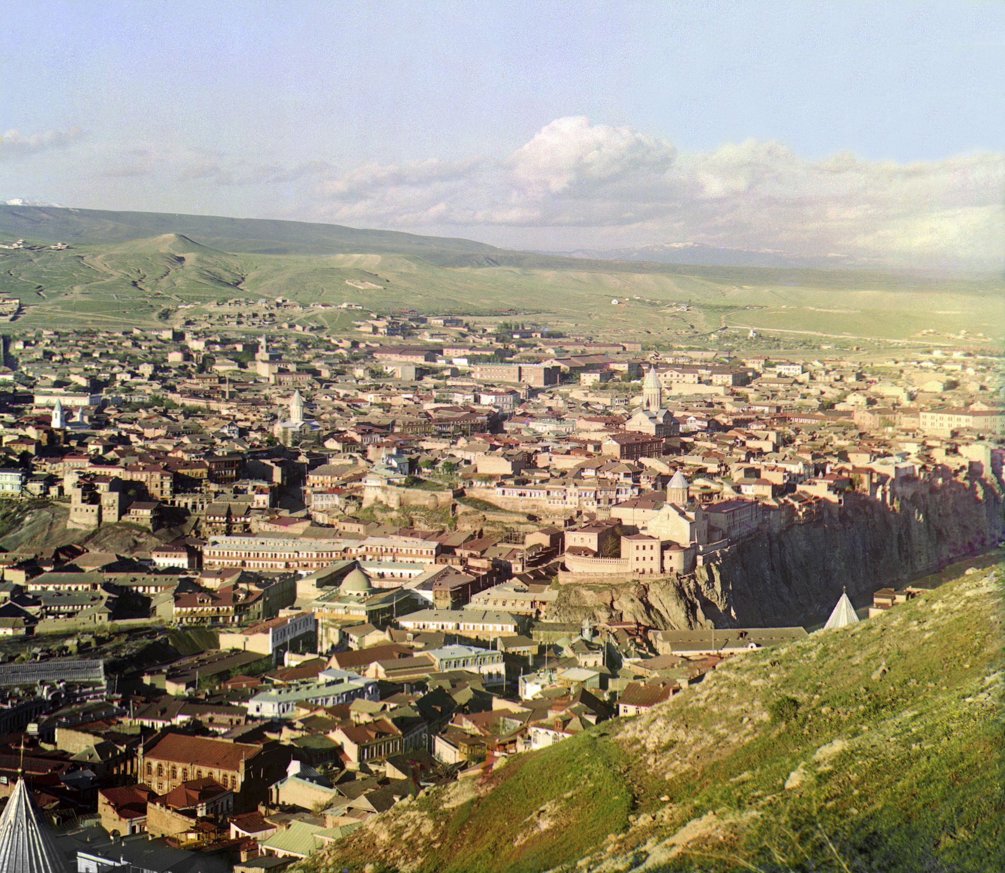 Color Photograph Of Tbilisi In The Early 1900s By Sergey Mikhaylovich Prokudin Gorsky