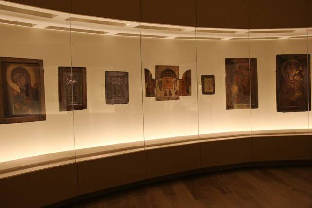 Display of Icons at the Svaneti Museum of History and Ethnography. Photo courtesy of the National Museum of Georgia.
