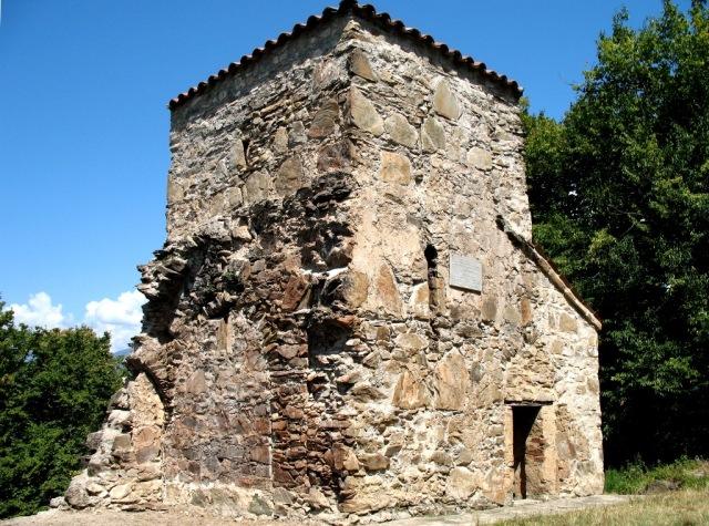 Ecclesiastical building at Nekresi Monastery. Photo by Lidia Ilona, via Wikimedia Commons.
