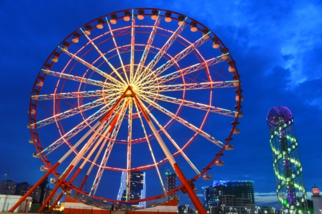 Ferris wheel on Batumi Boulevard in Batumi