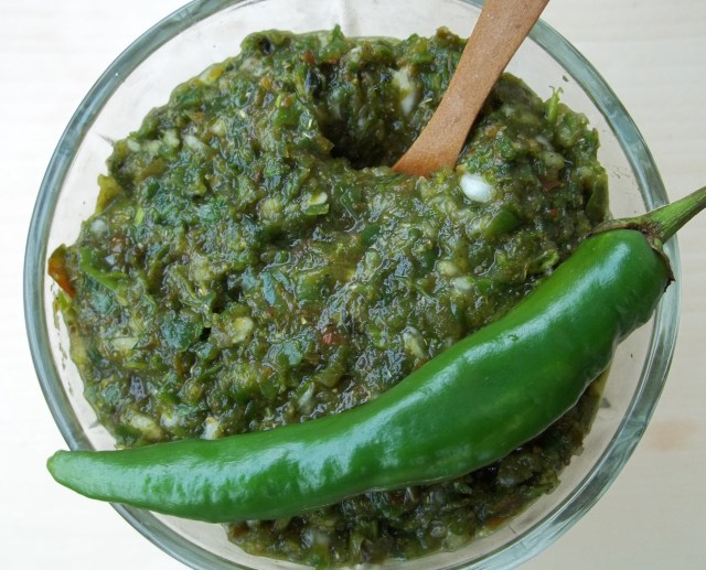 Green Ajika Ready for Serving