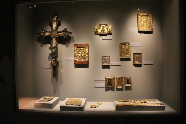 Icons at the Svaneti Museum of History and Ethnography in Mestia. Photo courtesy of the National Museum of Georgia.