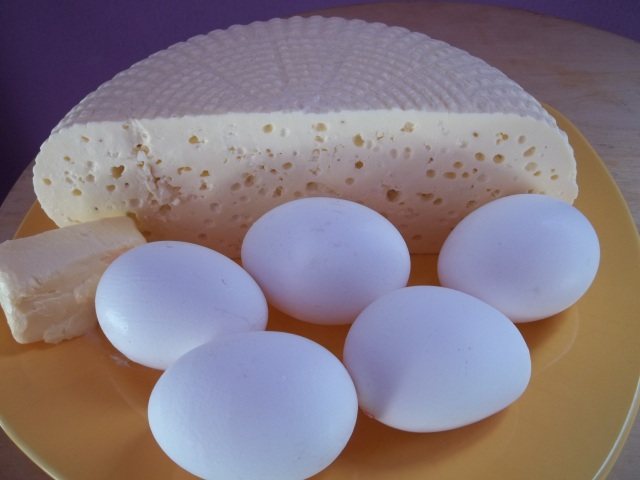 Ingredients for Gurian Khachapuri