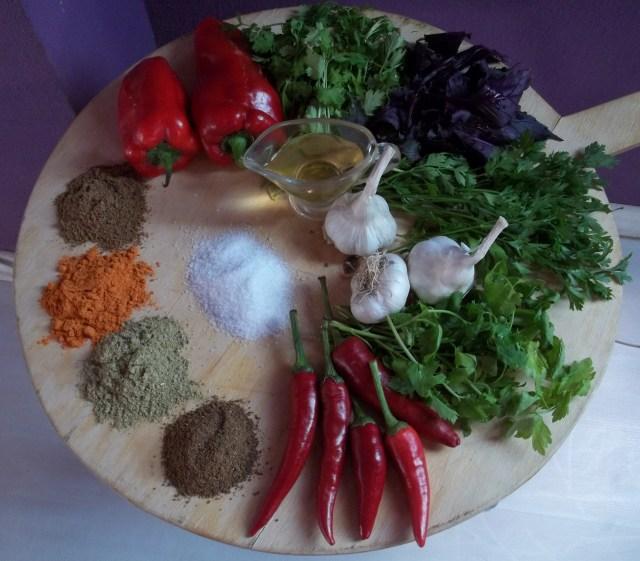 Ingredients for Megrelian Ajika