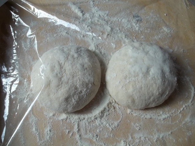 Khachpuri wrapped in clingfilm